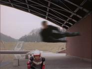 Gregorl-man performs a Rider Kick