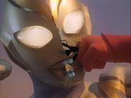 Imitation Ultraman Dyna Face cracks