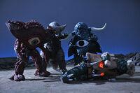Gan-Q, Gomora, Alien Akumania & Mochiron