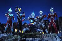 Ginga, Victory, Orb, X & Seven