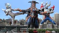Ultraman Zero Beyond & Geed Magnificent vs. Zegun