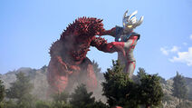 Ultraman Taiga vs. Pandon