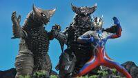Ultraman Zero & Gomora vs. Mecha Gomora