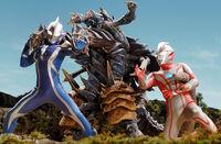 Mebius & Hikari vs. Dinozaur Reverse