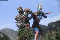 Ultraman Orb Hurricane Slash vs. Alien Gapiya Sadeath