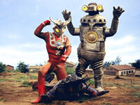 Ultraman Leo & Sevenger vs. Ashuran