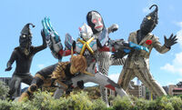 Kemur Man, Alien Babarure, Dada & Alien Zetton vs. Ultraman X