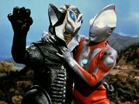 Alien Mefilas vs. Ultraman