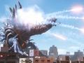Dinozaur Fires Missiles at Mebius