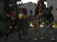 Alien Valkie, Nackle, Zetton & Icarus