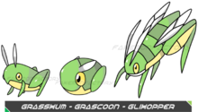 Grasshopper pokemon by fakemonfactory-d4vtz3e