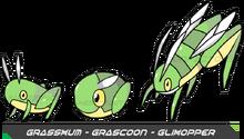 Grasshopper pokemon by fakemonfactory-d4vtz3e
