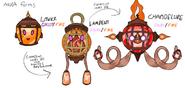 Litwick, Lampent y Chandelure de Kustem