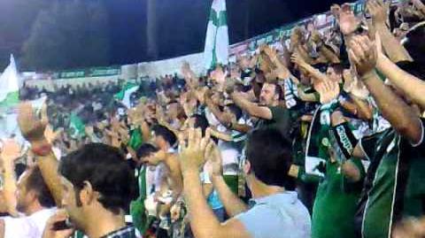 Betis-Tenerife .. Supporters Sur - Yo te quiero real betis.