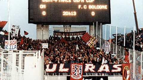 Tifo Bolognese Ultras Bologna!