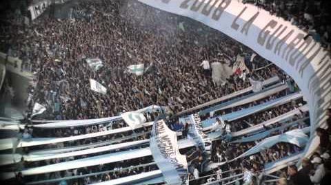 Hinchada Racing club Avellaneda Argentina