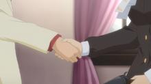 Anime ep2 rosa battler handshake
