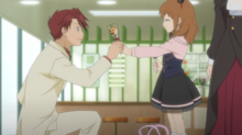Anime ep2 battler gets candy