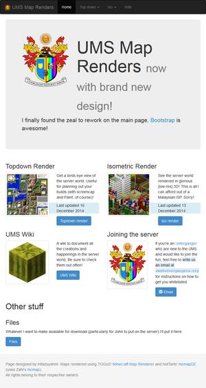 UMS renders new homepage