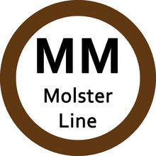 Molster Monorail Line station numbering sign