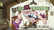 S1e2 Mabel Dipper e Grunkle Stan discutindo