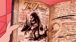 258px-S1e1 3 book the undead