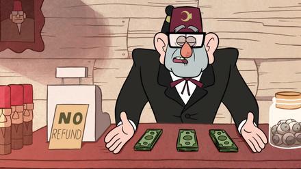 S1e1 grunkle stan com dinheiro