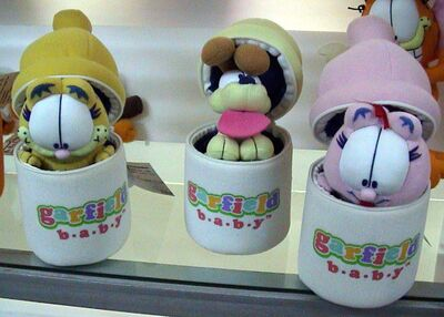 Garfield, odie and arlene peek-a-boo babies