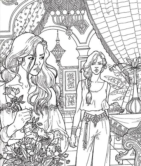 Imagen - Coloring Book 19.jpg | Una Corte de Rosas y Espinas Wiki ...