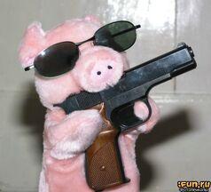 Pig-with-gun