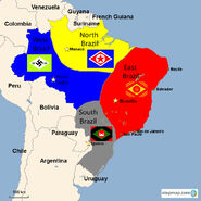 West, East, South, and North Brazil
