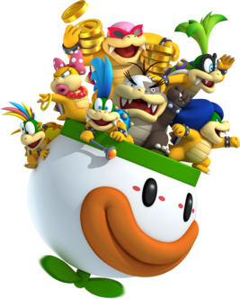 Koopalings in Clown Copter