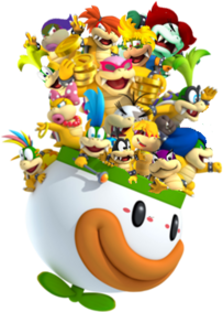 Fifteen Koopalings in Clown copter