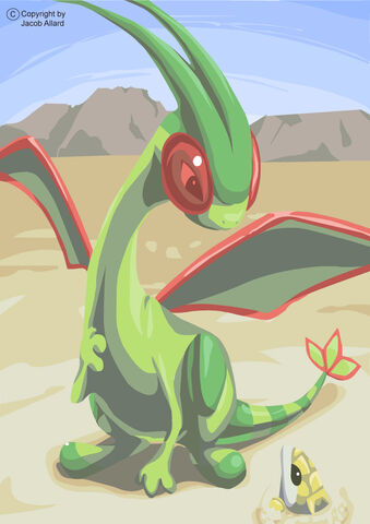 Redeemed Flygon and Sandshrew