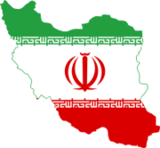 200px-Flag of Iran in map