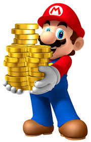 Mario with Coins