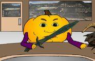 Pumkin sword man