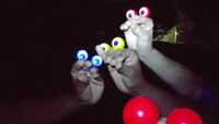Edgy Oobi hand puppets - Googly eye witnesses