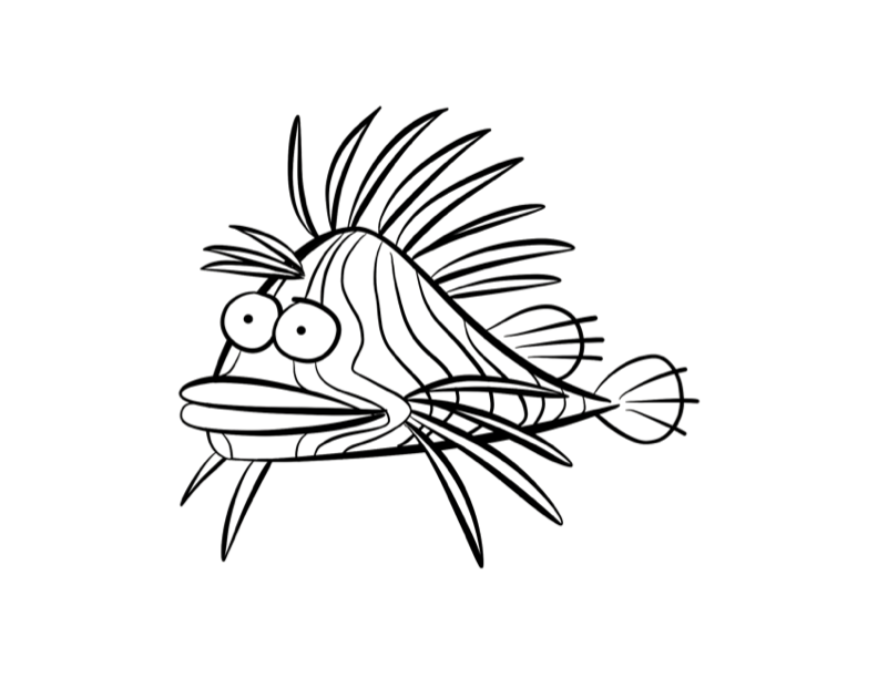 Image - 593721-lionfish-coloring-pages.png | Unbelievable Wikia ...