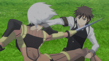 Raishin Attacking Barefooted Girl