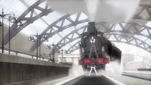 Raishin and Yaya Stopping the Runaway Train