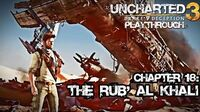 Uncharted 3 Drake's Deception (PS3) - Chapter 18 The Rub' Al Khali - Playthrough Gameplay