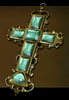 Jeweled Golden Cross