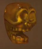Amber Skull Bead