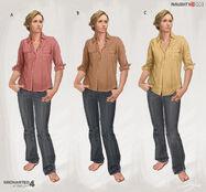Elena Fisher (Home) concept designs