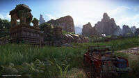 Uncharted The Lost Legacy Jeep Ruine