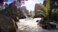 Uncharted The Lost Legacy Jeep Fluss