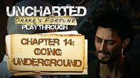 Uncharted Drake's Fortune (PS3) - Chapter 14 Going Underground - Playthrough Gameplay