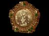 Gold Mosaic Inca Earring