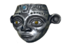 Silver Inca Mask